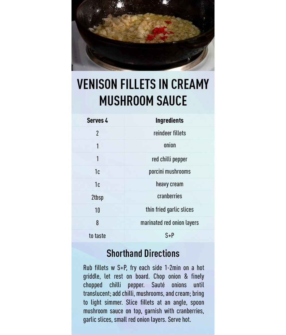 Venison Fillets in Creamy Mushroom Sause recipe