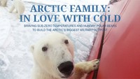 Arctic Family In Love With Cold