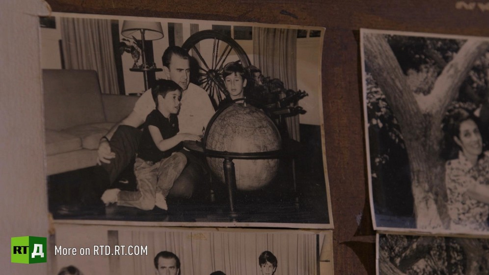 Black and white photographs of the Sacheri family. Still taken from RTD documentaryArgentinian DNA: The Fracture.
