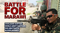 Battle For Marawi. Civilians suffer while army battles ISIS militants in Philippines