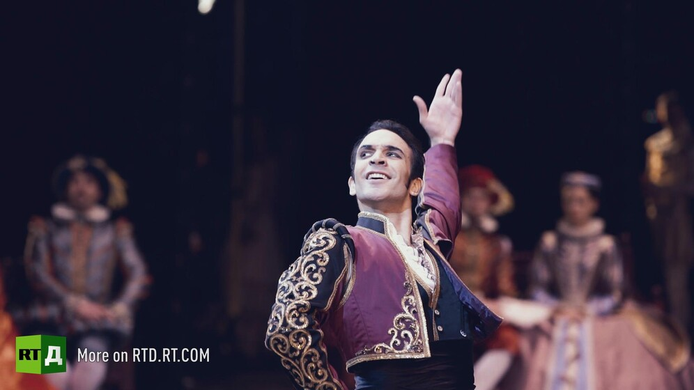 Erick Swolkin, dancer at the Bolshoi Theatre in Moscow