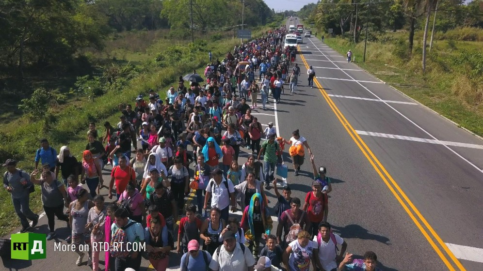 Migrant caravans march to the United States