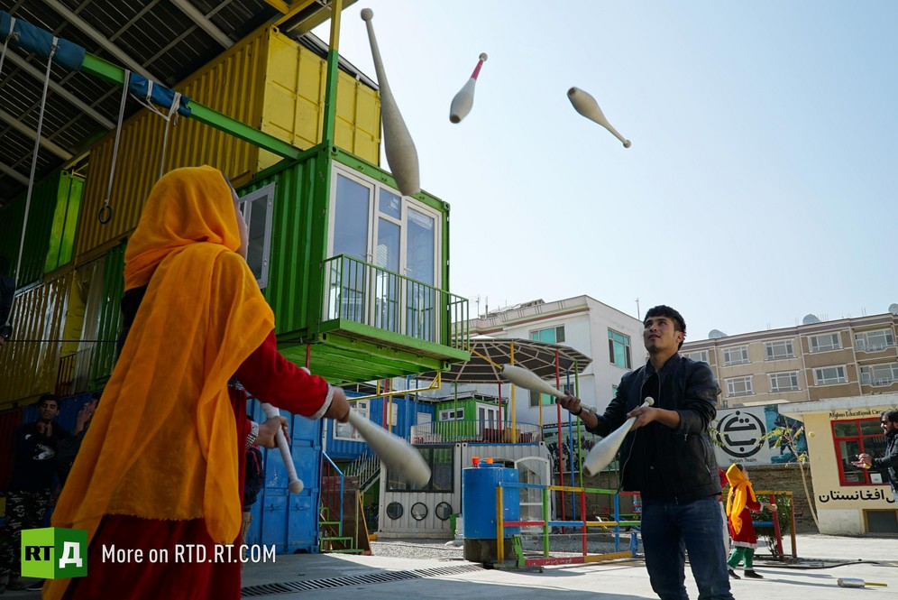 Mobile Mini Circus for Children in Afghanistan gives children hope and the joy of childhood