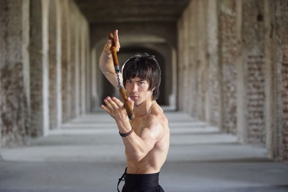 Abbas Alizada, known as Afghan Bruce Lee with nunchuks. Shot taken while fiming RTD documentary Dragon of Afghanistan.