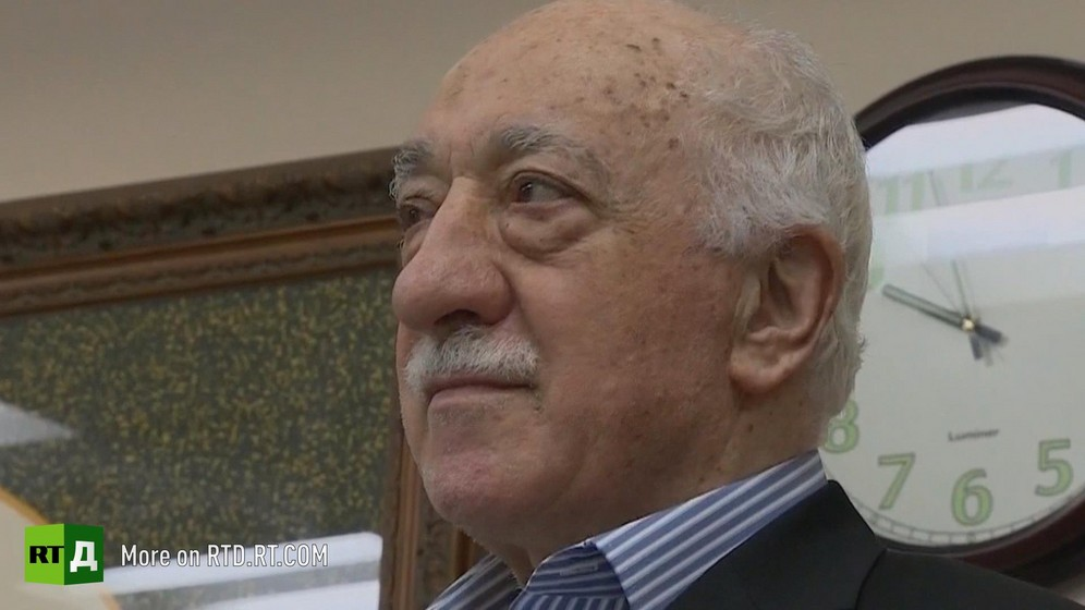 Headshot of Fethullah Gulen, an influential Turkish preacher, taken at his home in Pennsylvania, USA. Still taken from RTD's documentary series on Fethullah Gulen, The Gulen Mystery, Episode 1: Gulen's Schools.
