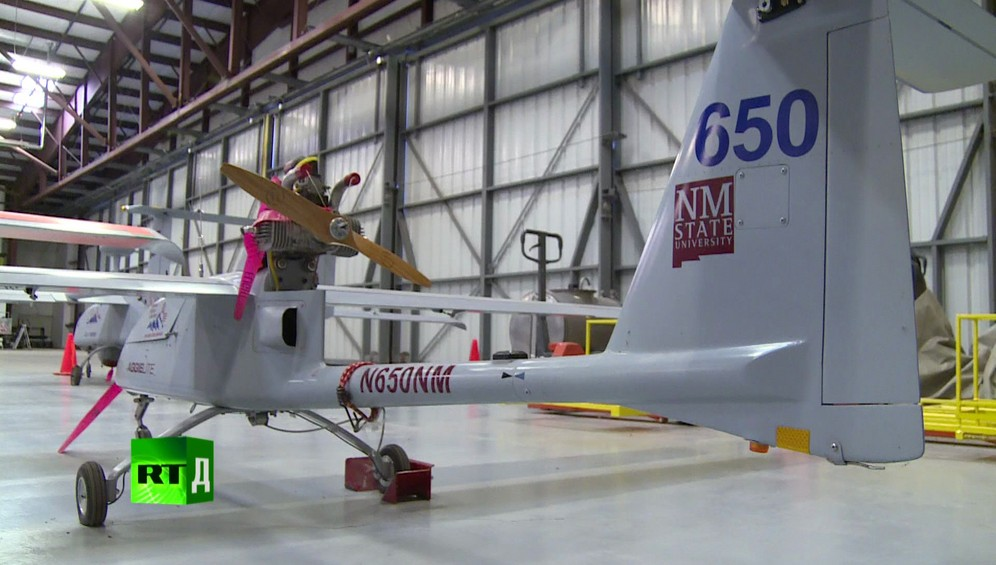Large drone in a hangar at New Mexico State University. Taken while shooting RTD documentary on the impact of drones, Game of Drones.