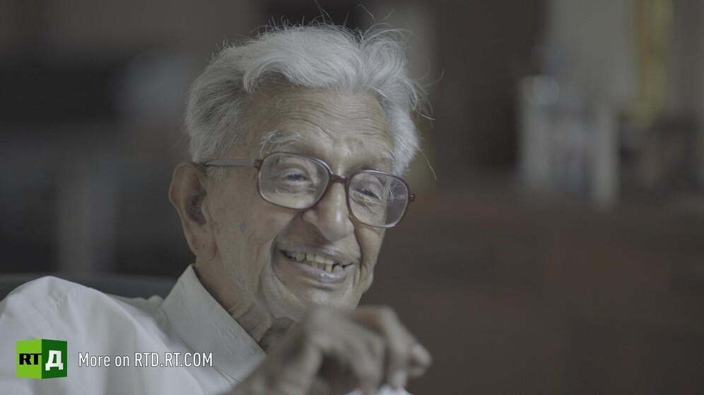 V. Kalyanam, Gandhi's personal secretary. Still taken from RTD documentary Gandhi's Footsteps.