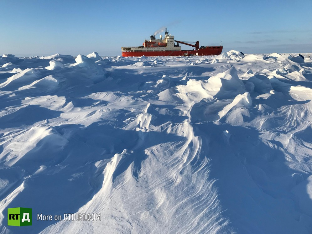 Russian scientists and their unique drifting polar station, Akademik Tryoshnikov vessel