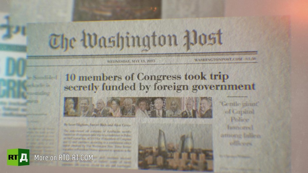 Front page of the Washington Post. Still taken from RTD's documentary series on Fethullah Gulen, The Gulen Mystery, Episode 4: Gulen's Turkish Charter Schools.