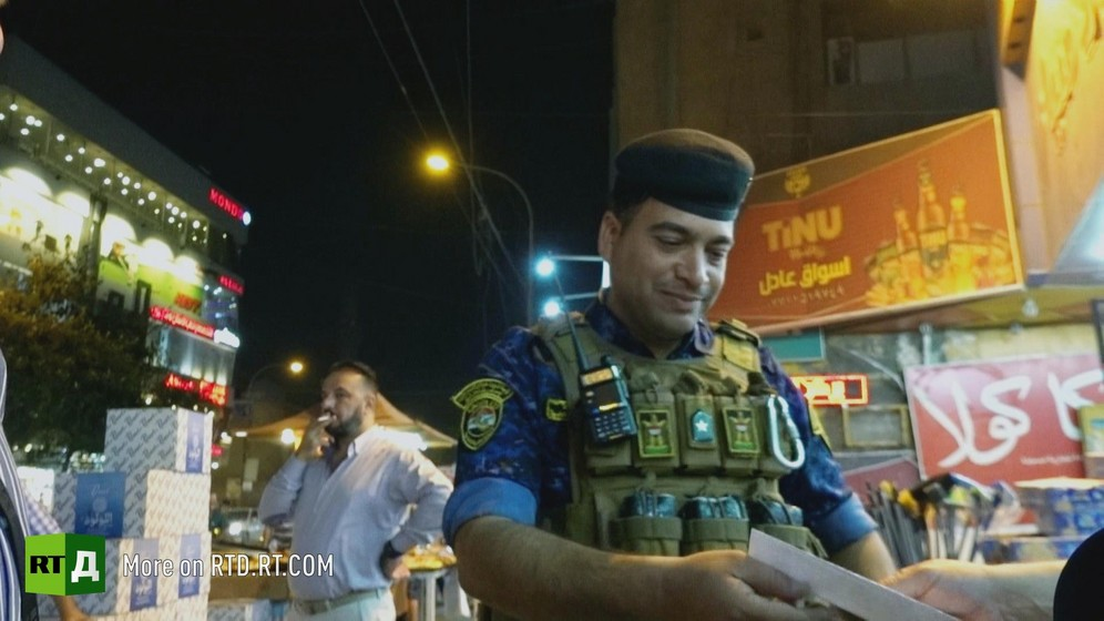 Violence by criminal gangs is still a major problem, so the police are everywhere in Baghdad, however most refuse to be filmed.