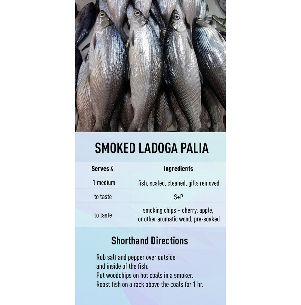 Smoked Ladoga Palia recipe