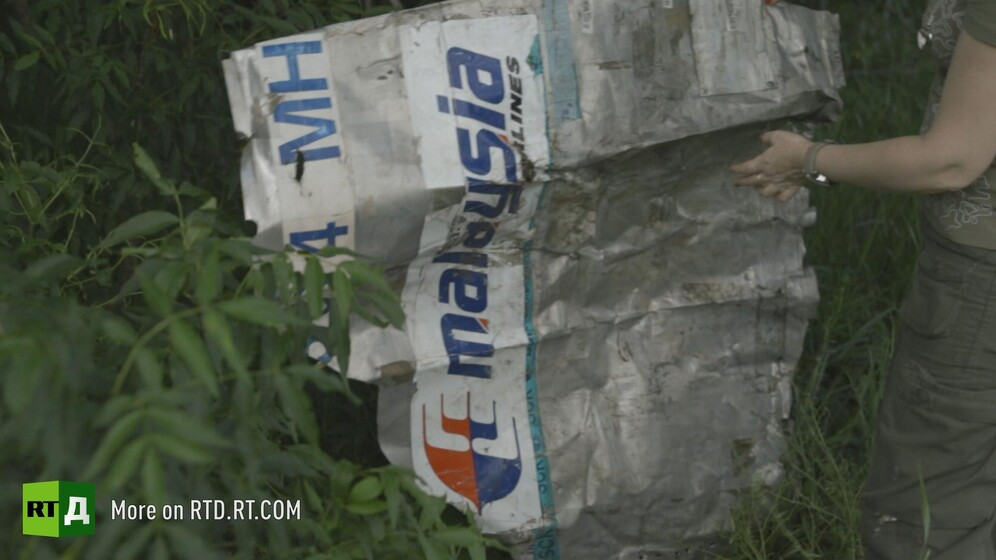 Wreckage of Malaysia Airlines flight MH17