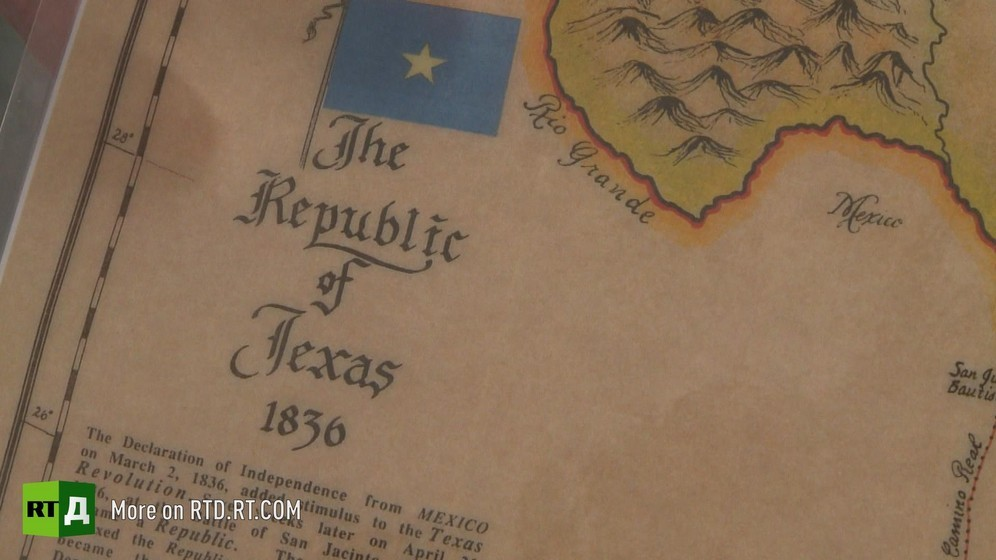 Copy of vintage map of the Republic of Texas with the date, 1836. Still taken from RTD documentary The Republic of Texas.