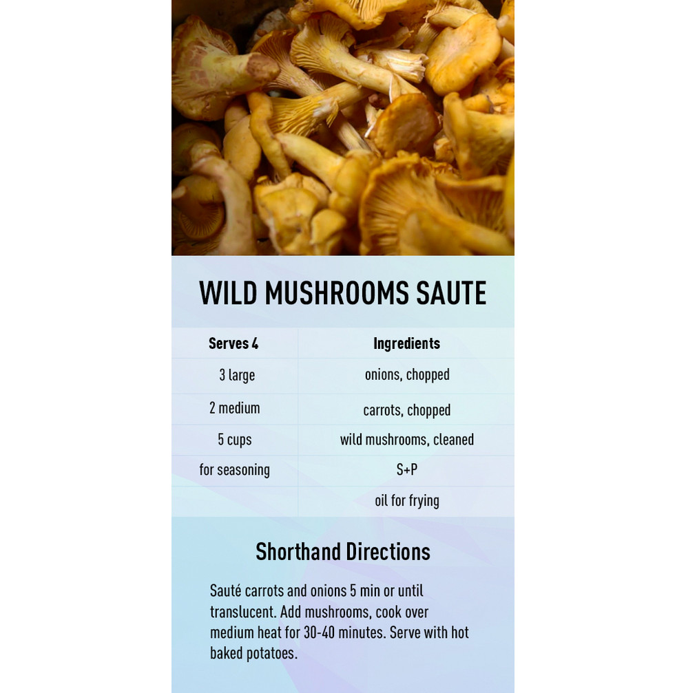 Wild mushrooms saute recipe