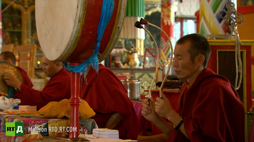 Buddhist monks in Buryatia