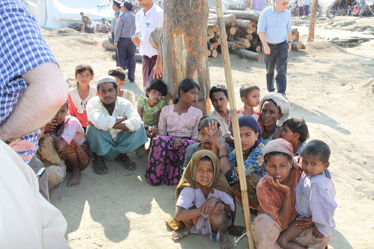 Displaced Rohingya people in Rakhine State. © Foreign and Commonwealth Office / Rohingya: Unpeopled