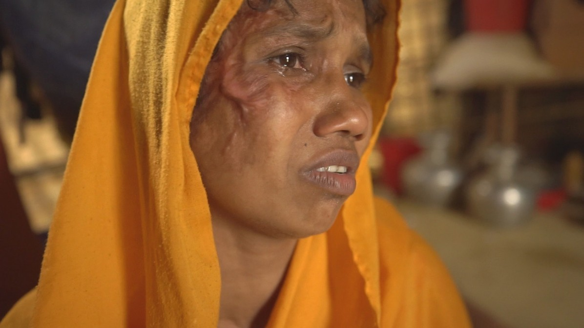 """Why would I want to return to Myanmar? They killed my husband. I lost four family members,"" Montay Begum, a Rohingya refugee, says./ Rohingya: Unpeopled"