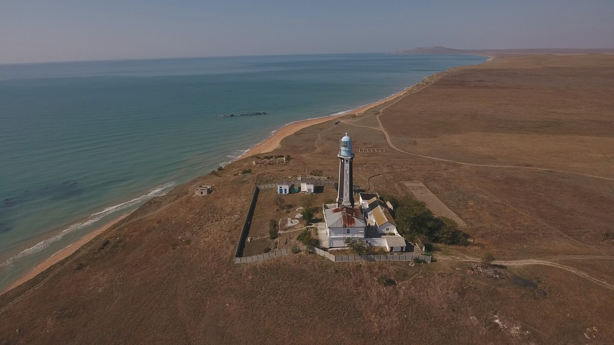 The Kyz-Aul lighthouse on the Kerch Peninsula. © A still from the documentary film The Bridge.