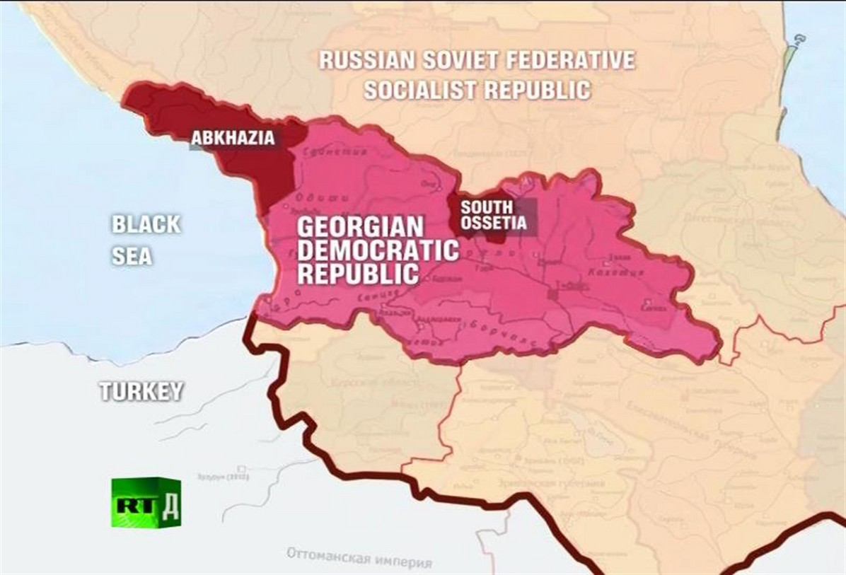 Soviet Georgia Map.The 2008 War Between Georgia South Ossetia Tracing The