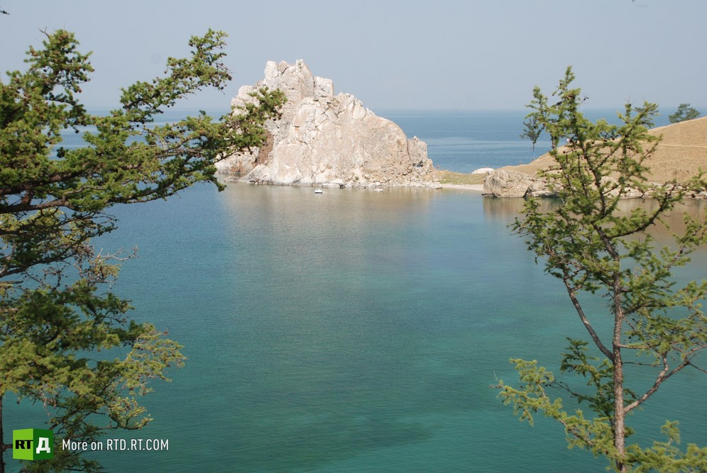 Lake Baikal on a sunny summer's day. Still taken from RTD documentary Spirit of Baikal.