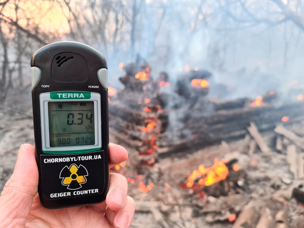 fire in chernobyl exclusion zone