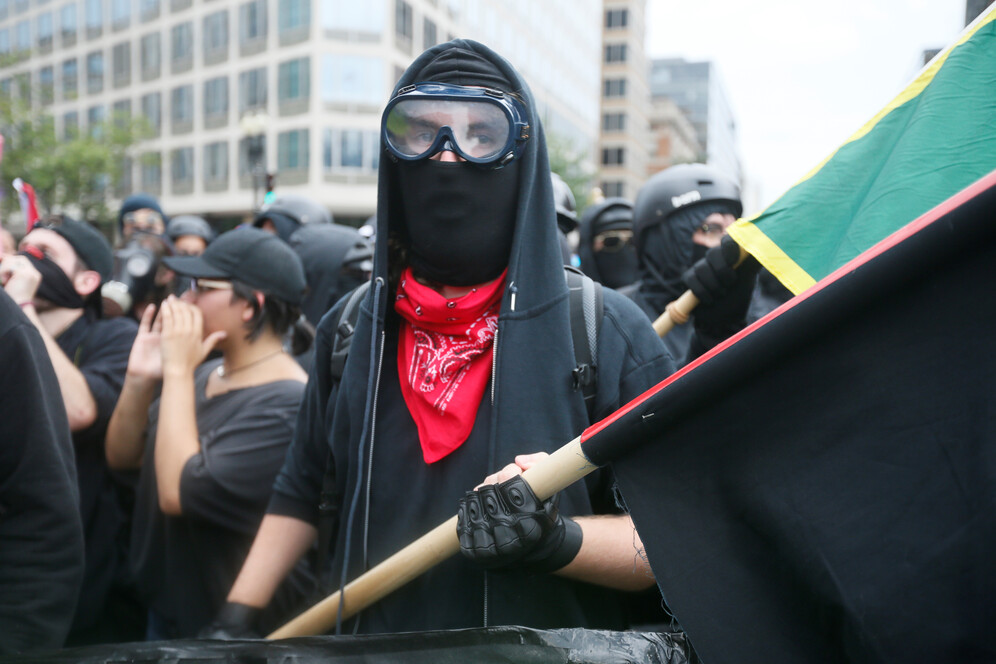 antifa march marks charlottesville protests