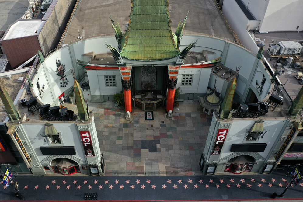 grauman s chinese theater and empty walk of fame
