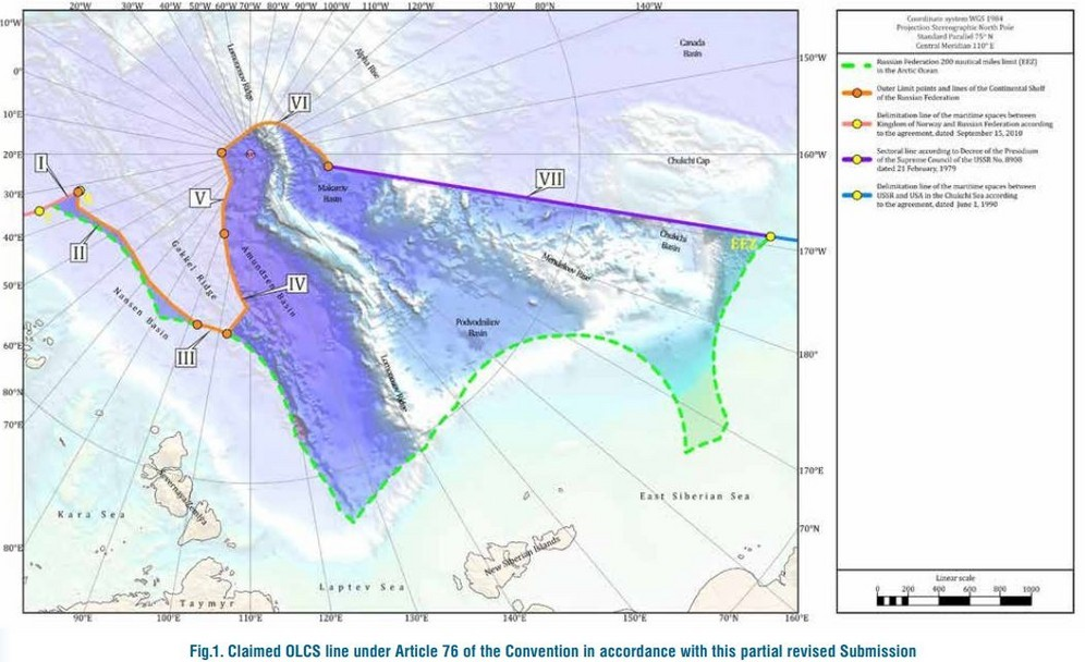 PARTIAL REVISED SUBMISSION OF THE RUSSIAN FEDERATION TO THE COMMISSION ON THE LIMITS OF THE CONTINENTAL SHELF MAP IN RESPECT OF THE CONTINENTAL SHELF OF THE RUSSIAN FEDERATION IN THE ARCTIC OCEAN