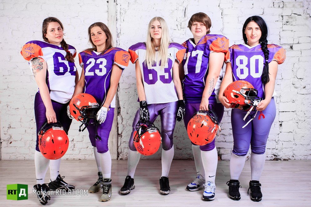 Valkyries, women's American football team from St. Petersburg, Russia