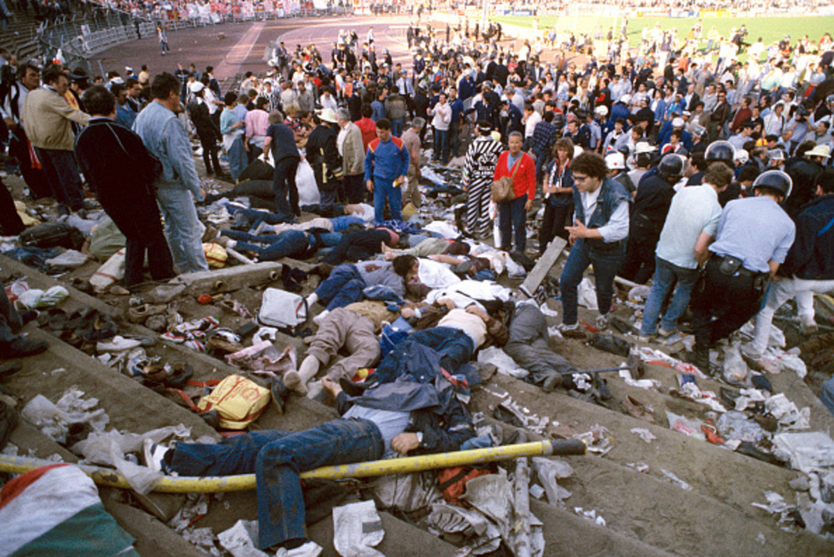 39 people died at the Champions Cup final in Brussels on May 29, 1985 / Getty Images