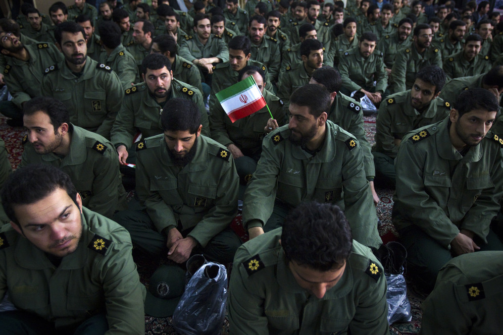 Members of Iran's Islamic Revolutionary Guard, elite force and foreign terrorist organization according to the US