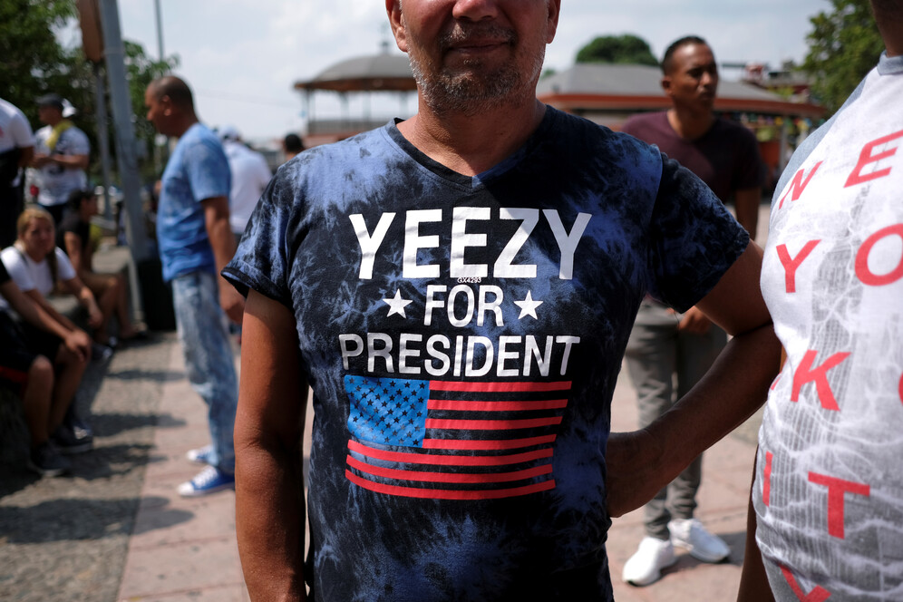 man supports Kanye's candidacy for president