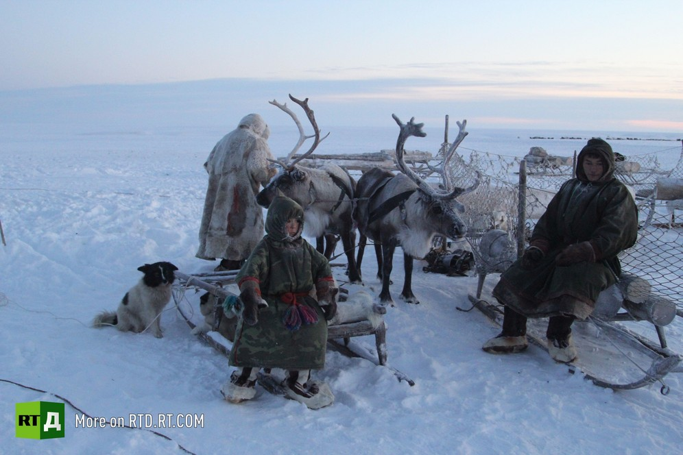 A family of reindeer herders