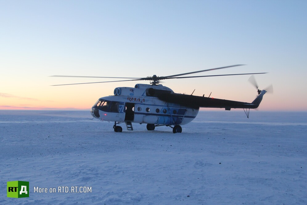 Air ambulance working in the Russian Arctic