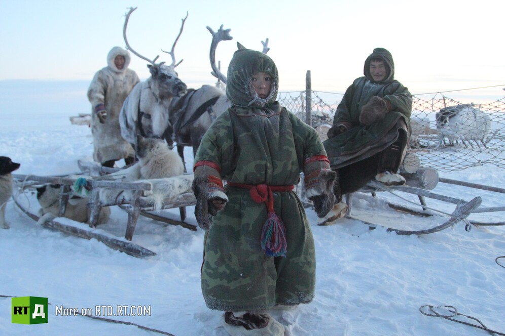 Nenets reindeer herders from Russia's Yamal peninsula