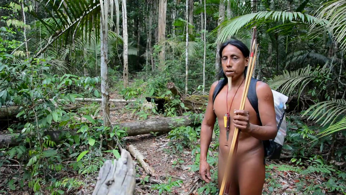Indigenous Zo'e tribe in Amazon forest