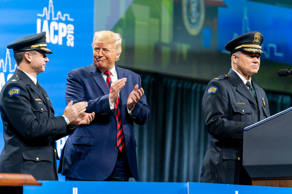donald trump at chiefs of police annual conference