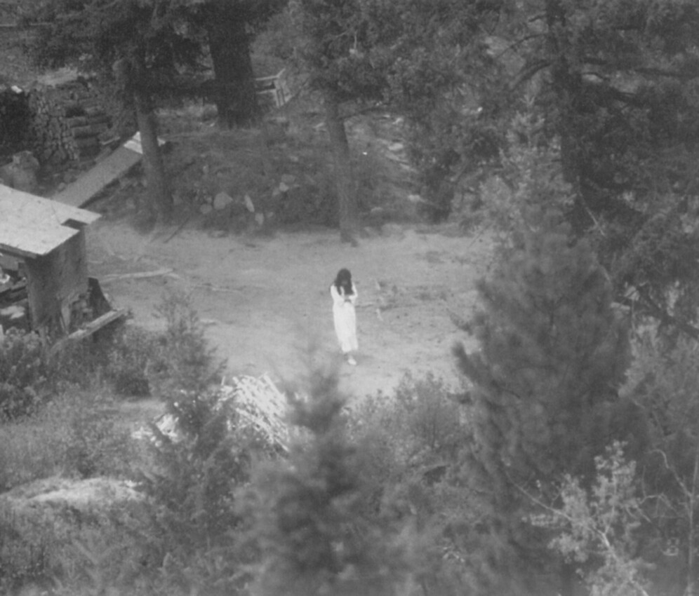 This is the last photograph of Vicki Weaver before she was killed by an FBI sniper 22 Aug 1992 in the Ruby Ridge standoff