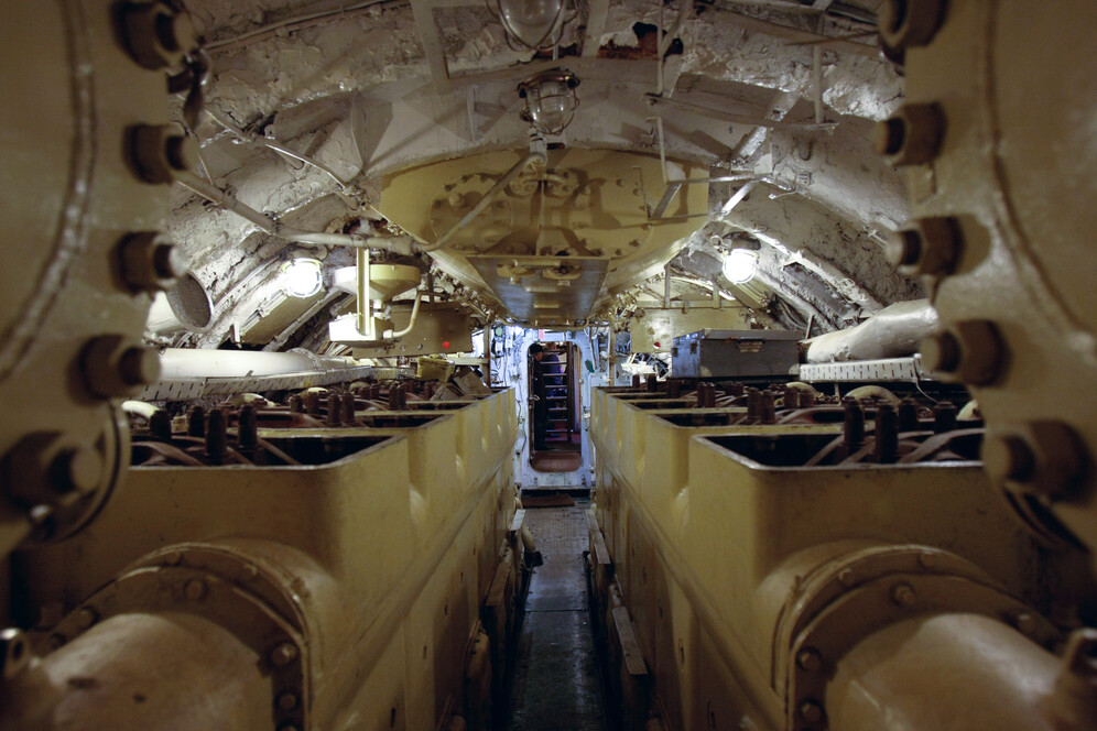 View from inside the Project 613 type submarine