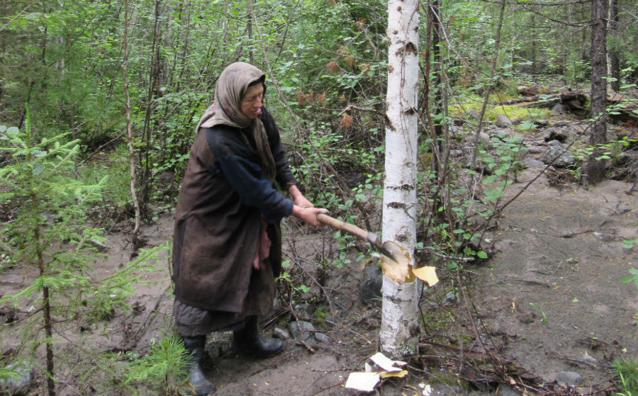 Agafia, a 72-year old hermit from Siberia