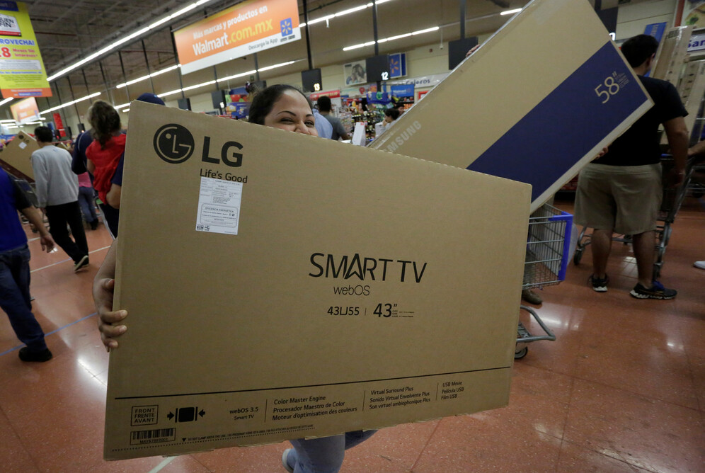 woman and smart tv