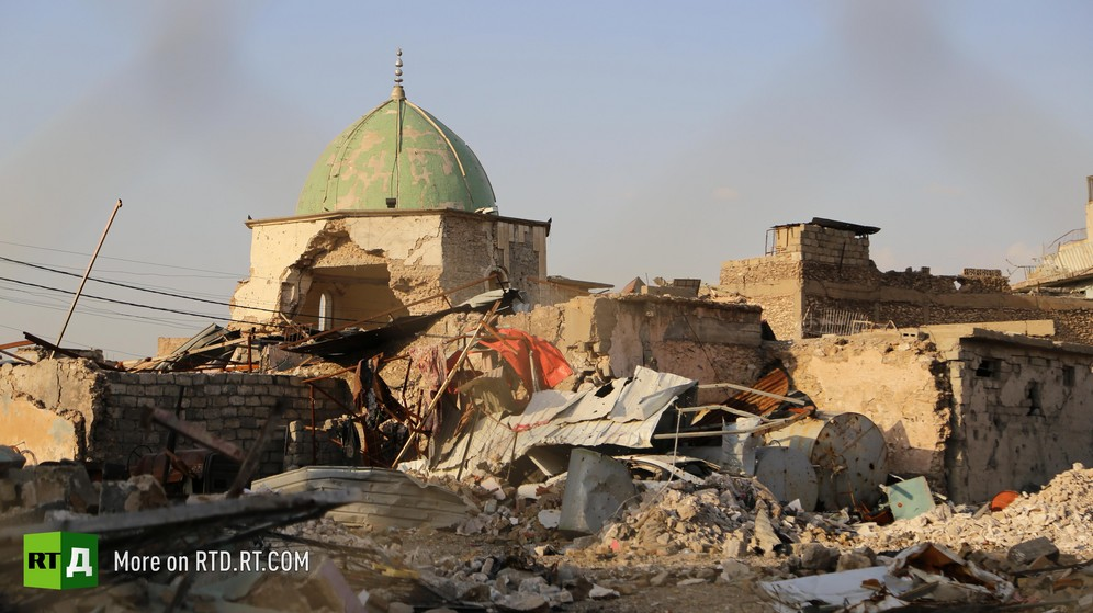 The ruins of Mosul's old city following intense fighting between the Iraqi army and Islamic State militants.